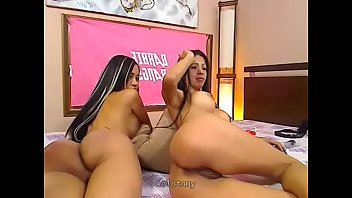 latin milf and teen fingering on lesbian cam show