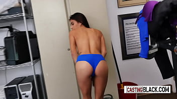 Naughty TEEN rides FAKE CASTING AGENT COCK in the OFFICE