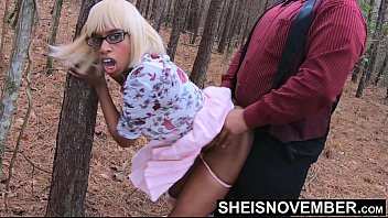 After Church Service Me & Step Father Sneak Away From Mom To Fuck In The Woods, Standing Up Doggystyle, Cute Ebony Step Daughter Msnovember Taboo Public Fauxcest Sex 4k On Sheisnovember