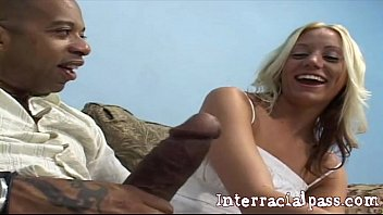 Cute Amateur Blonde Creams When She Grabs The BBC!