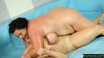 Chubby bigtits beauty drilled on the floor