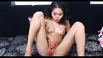 Asian Girl Play with her Shaved Pussy