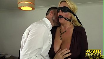 Tied Up And Blindfolded Busty Milf Sub