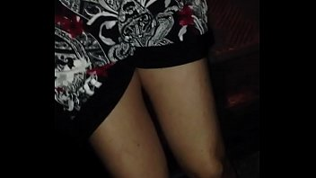 Sexy upskirt view of horny hot wife's wet pussy