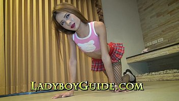 Thai ladyboy small penis Buttocks rosebud and foreskin