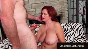 Woman sex with old man Redheaded mature babe andi james has torrid sex with a passionate old man