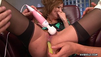 Spitroasting the milf with sex toys and fingers