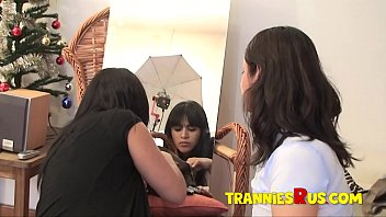 Hot spanish shemales Tranniesrus - behind the scenes with super hot latina shemale