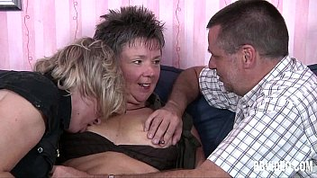 German couple fucking with a mature bitch thumbnail