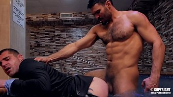 Gay suits porn Hot stud jean franko fucking isaac eliad in a pool