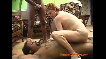 Interracial Gangbang with a Horny Granny Part 2
