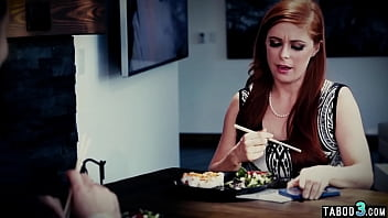 Redhead MILF Penny Pax double penetrated by husband and his mistress Chanel Preston