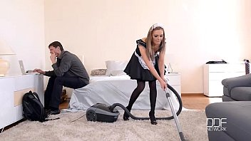 Anal Housemaid Takes Gigantic Cock In Ass And Mouth