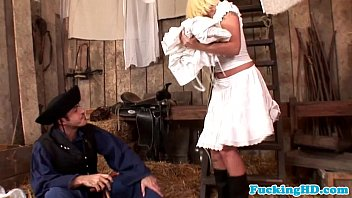 Farm bukkake - Euro babe wife wants farmers dick in ass
