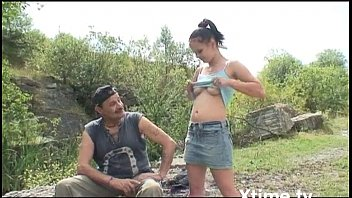 Uncle cracker aint gonna suck itself - Young girl buggered by her old uncle in the country