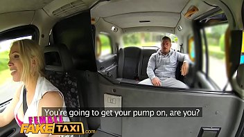 Female Fake Taxi Stud covers sexy drivers big tits in cum thumbnail