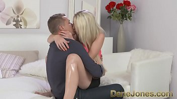 DaneJones Sexy blonde gets covered in sticky cum twice in a row