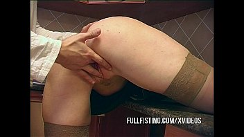 Sexy Slut In Stockings Fisted Anal Fucked 12 min