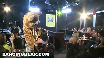 Latin milfs orgy Dancing bear - male strippers sling dick for horny ladies at wild cfnm party