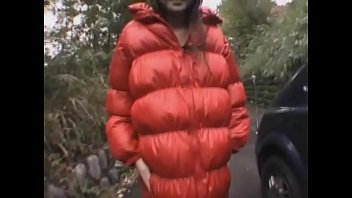 Red Down Jacket Masturbation