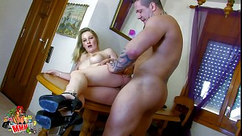 Hot blonde milf fucked by muscle guy with big cock