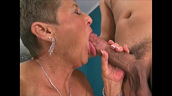 Granny sucking big dick