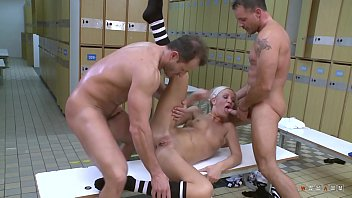 Young and Dirty Female Referee Is Riding on Two Shafts