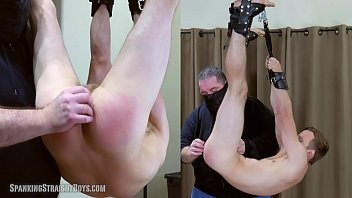 Used gay bdsm videos Straight boy suspended hog tied style and spanked hard