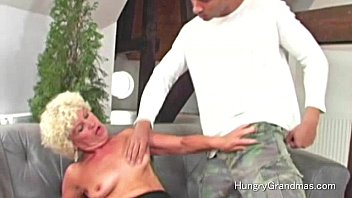 Pussy toy for horny granny