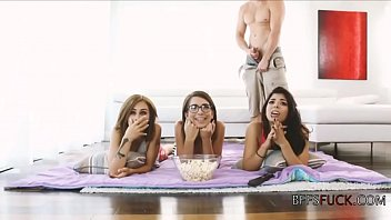 Uninterested teens get fucked in a row by a perv 7 min