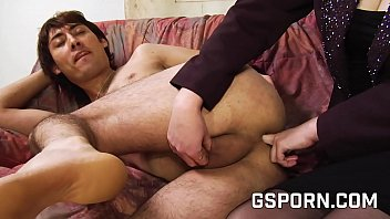Slut milf fucking asian ass with her strapon