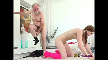 Teen Tyna Lets Old Guy Enjoy Her Tight Pussy
