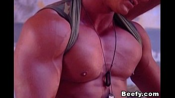 Gay musclemen fucking Beefy fuck of two hot and muscular military