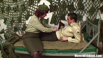 Cougar milf boy Pierced pussy senior army officer reprimands a soldier
