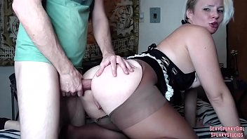 Hot Maid Gets Anal & Swallows Cum on Cam