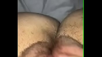 Hot white girl from scottland rubs creamy pussy