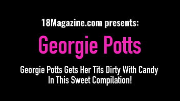 Georgie Potts Gets Her Tits Dirty With Candy In This Compilation!