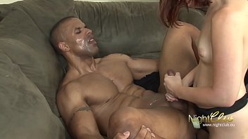 Hot Girl fucking black Stud with Strapon