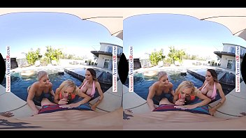 Naughty America Three hotties bang their friend's son in VR