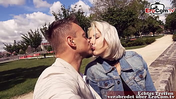 REAL SEXDATE - German tourist meet and fuck blonde milf in Budapest - EroCom Date Story