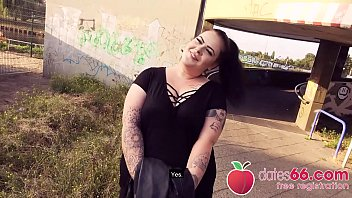 BIG GERMAN girl AnastasiaXXX gets some stranger'_s DICK in her CUNT right next to the autobahn! (ENGLISH) Dates66.com