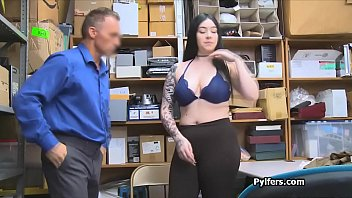 Patrolman bangs curvy big tit suspect in the office