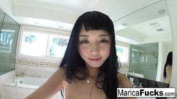 Self shot solo session with Japanese starlet Marica Hase
