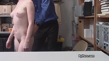 She loves the guards cock very much at the office