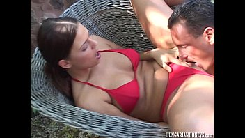 Bikini babe Simony being fucked outdoors
