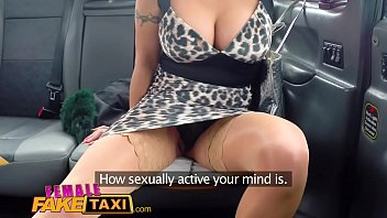 Female Fake Taxi Pussy licking and dildo fucking orgasms with redheads sex toys