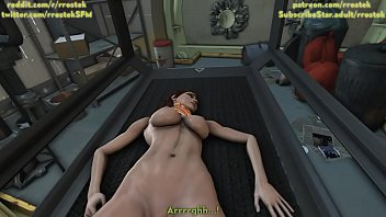 Female shepard fucked hard by a hgue cock guy 3D Animation