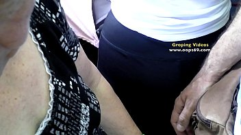 Milf Wife get's groped  on the way to work on Bus