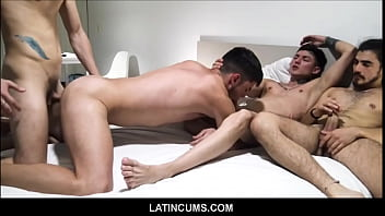 "Hot Young Latino Teen Boys Have Orgy For Cash <span class=""duration"">8 min</span>"
