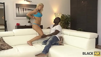 BLACK4K. Blonde wins a beauty pageant and spreads legs to celebrate it